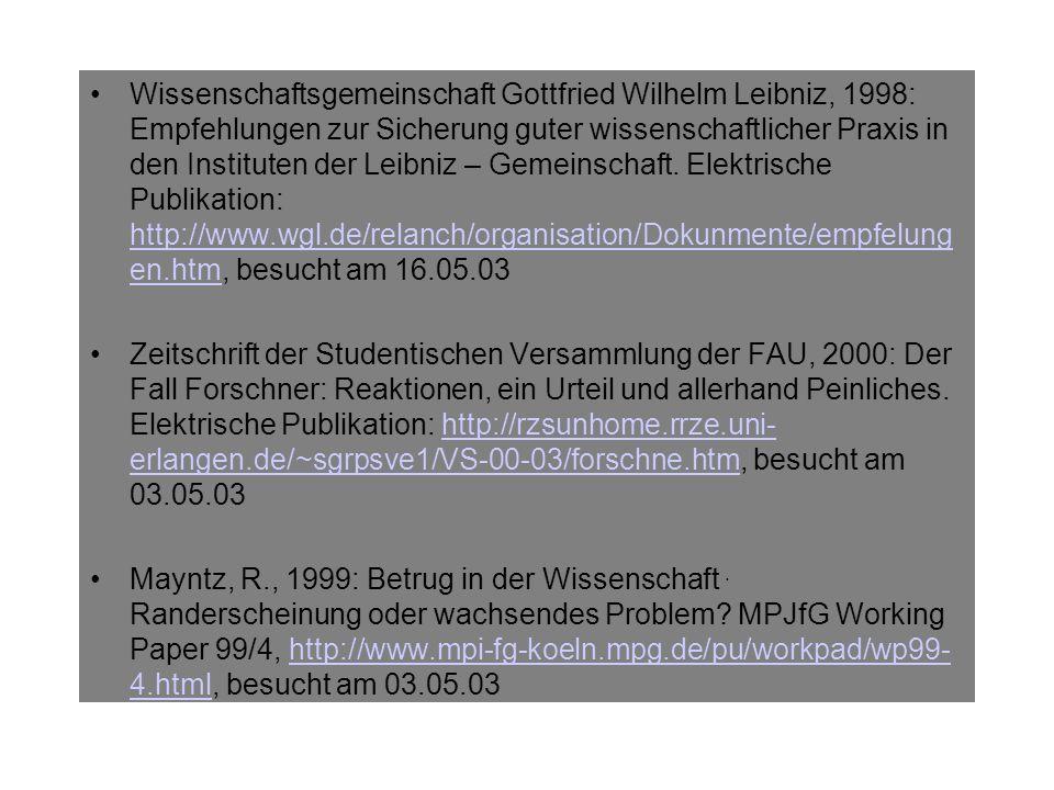Markl, H., 2000: Das Ethos des Wissenschaftlers.Global Dialogue.