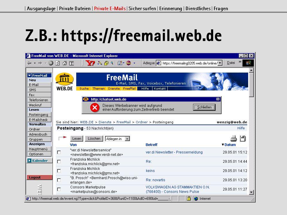 Sicher surfen mit Netscape Die besuchten Adressen werden in der History gespeichert.