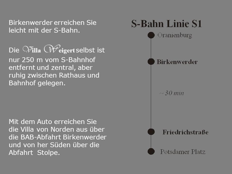 Birkenwerder erreichen Sie leicht mit der S-Bahn.