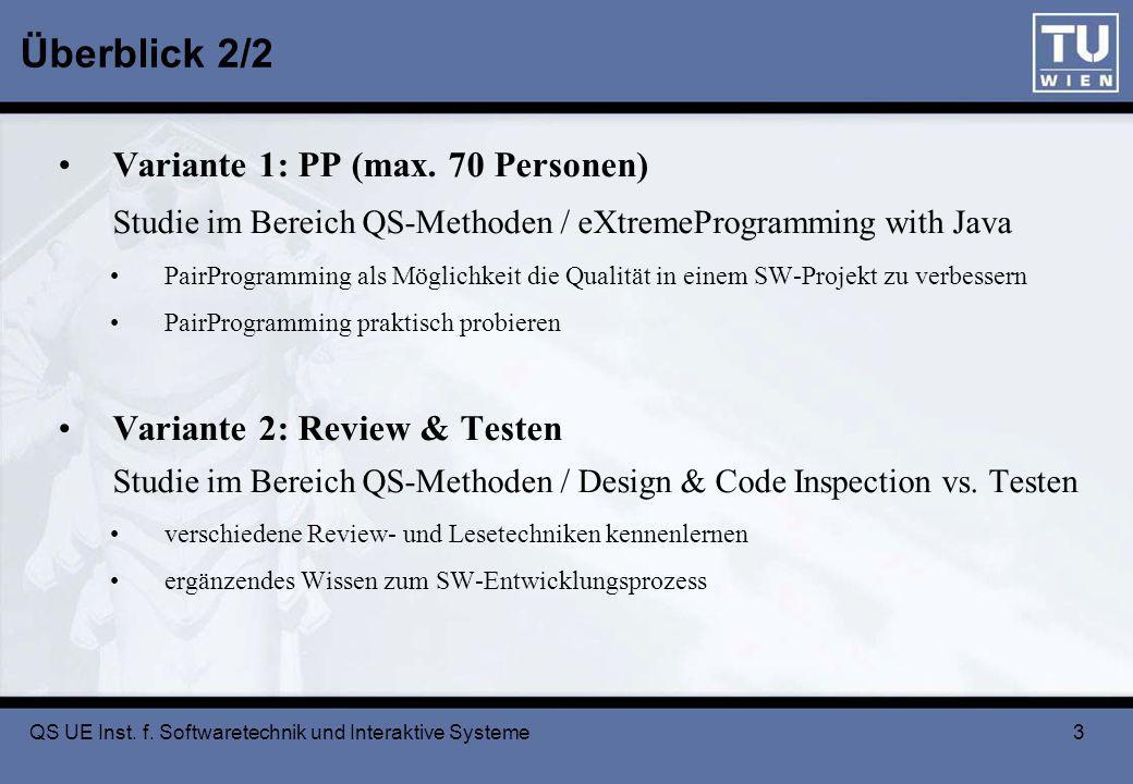 3 Überblick 2/2 Variante 1: PP (max.
