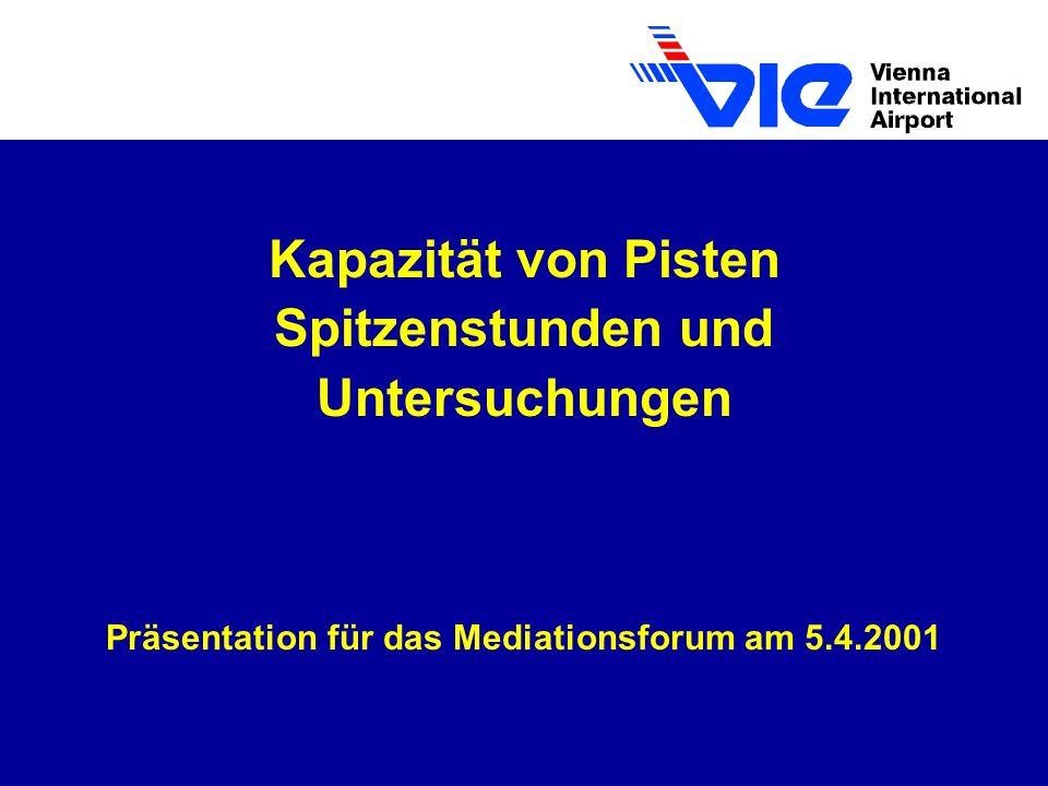 Kapazität von Pisten Spitzenstunden und Untersuchungen Präsentation für das Mediationsforum am 5.4.2001