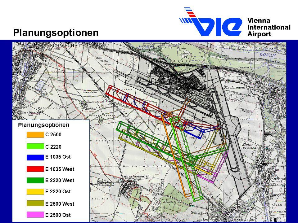 Planungsoptionen C 2500 C 2220 E 1035 Ost E 1035 West E 2220 West E 2220 Ost E 2500 West E 2500 Ost Planungsoptionen