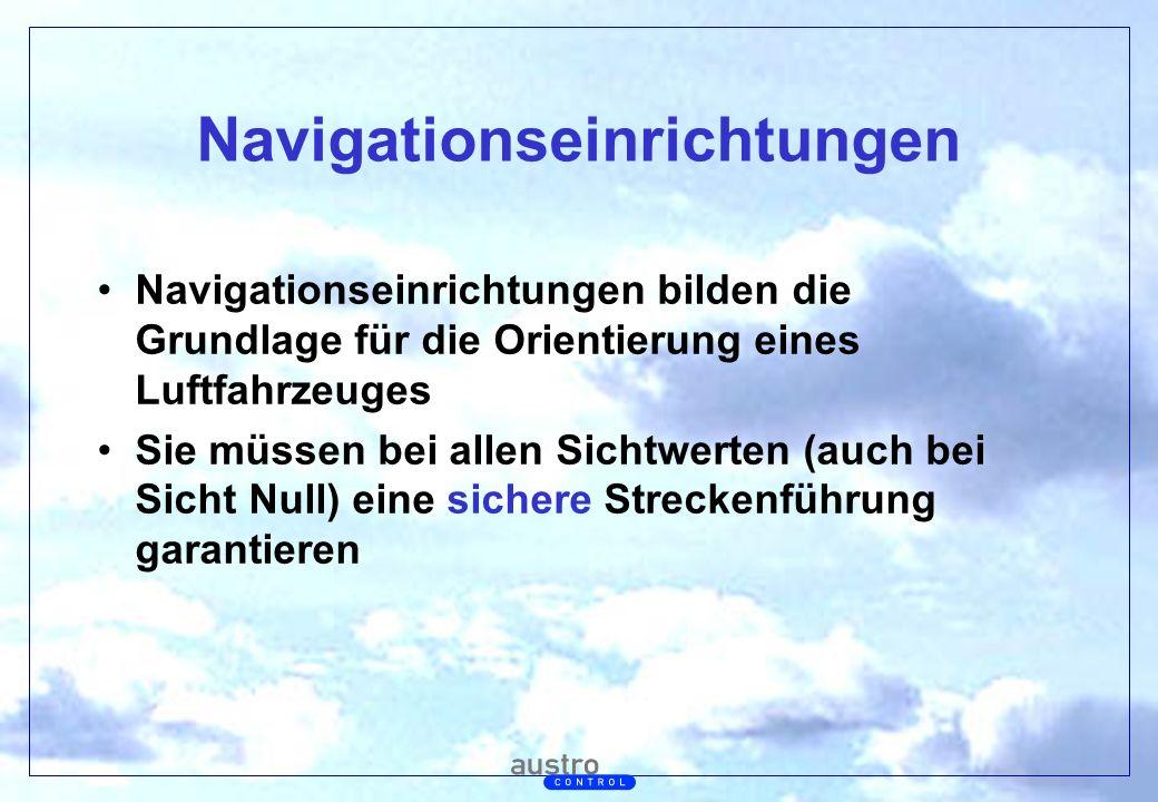 Abt. Generalsekretariat Navigationseinrichtungen Navigationseinrichtungen bilden die Grundlage für die Orientierung eines Luftfahrzeuges Sie müssen be
