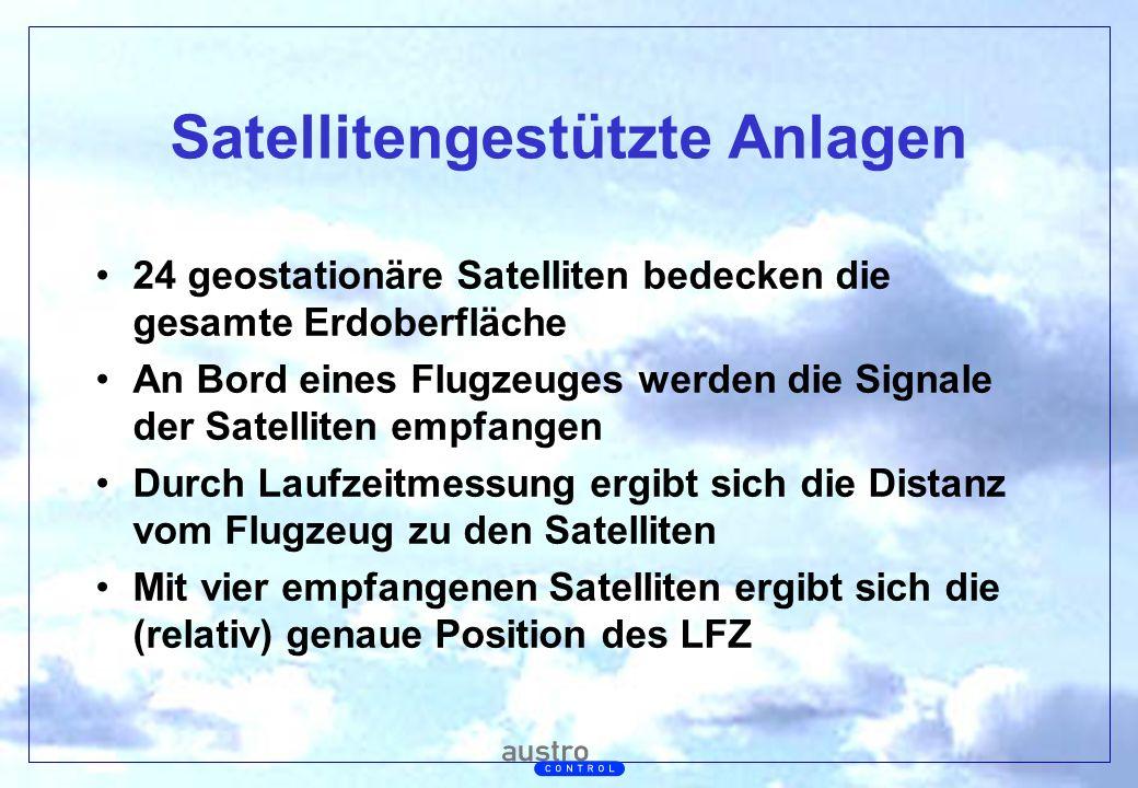 Abt. Generalsekretariat Satellitengestützte Anlagen 24 geostationäre Satelliten bedecken die gesamte Erdoberfläche An Bord eines Flugzeuges werden die