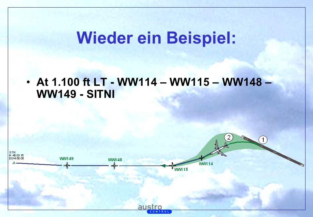 Abt. Generalsekretariat Wieder ein Beispiel: At 1.100 ft LT - WW114 – WW115 – WW148 – WW149 - SITNI