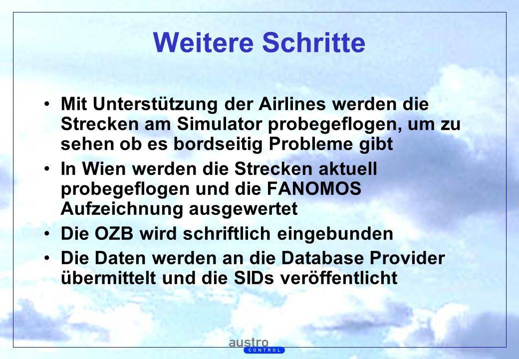 Abt. Generalsekretariat Weitere Schritte Mit Unterstützung der Airlines werden die Strecken am Simulator probegeflogen, um zu sehen ob es bordseitig P