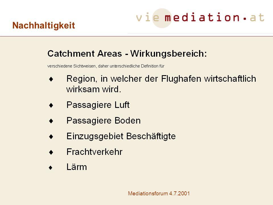 Nachhaltigkeit Mediationsforum 4.7.2001