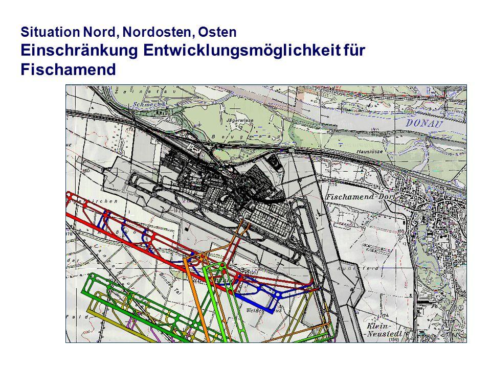Situation Nord, Nordosten, Osten Einschränkung Entwicklungsmöglichkeit für Fischamend