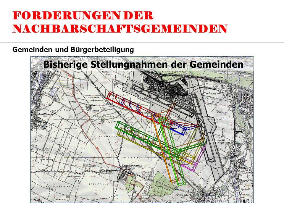 FORDERUNGEN DER NACHBARSCHAFTSGEMEINDEN Gemeinden und Bürgerbeteiligung Bisherige Stellungnahmen der Gemeinden
