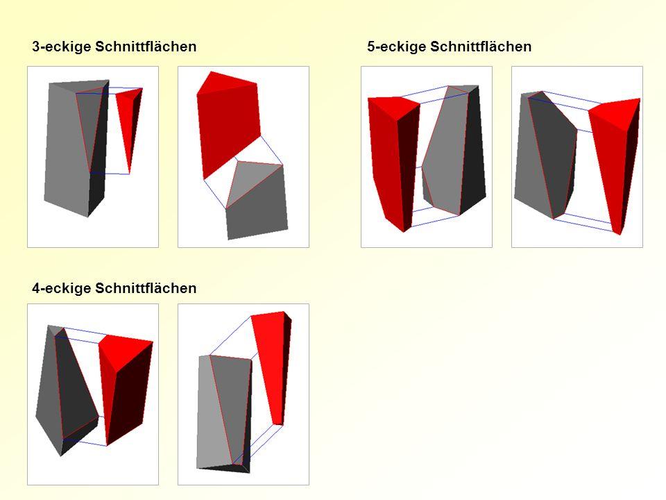 3-eckige Schnittflächen5-eckige Schnittflächen 4-eckige Schnittflächen