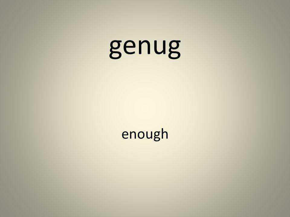 genug enough