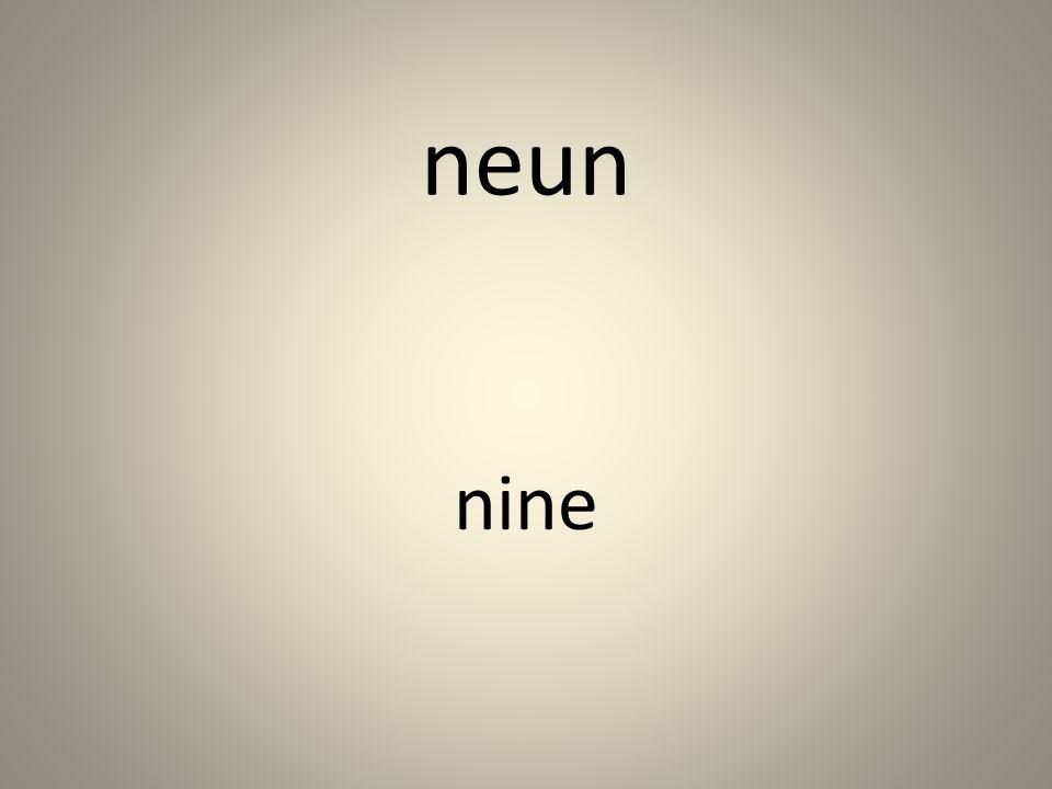 neun nine