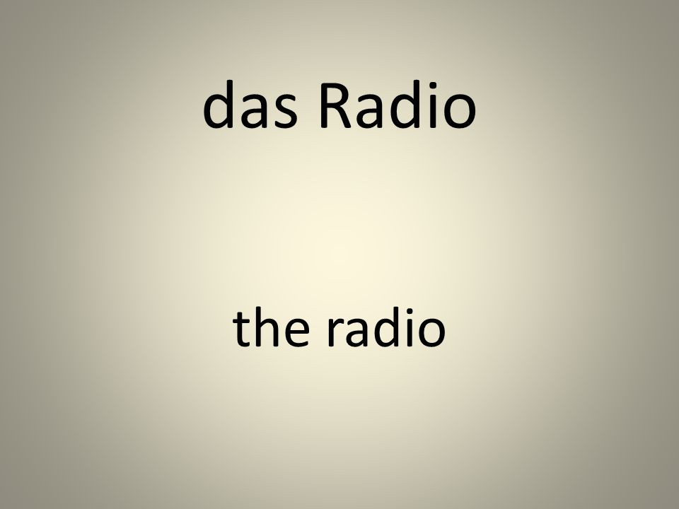 das Radio the radio