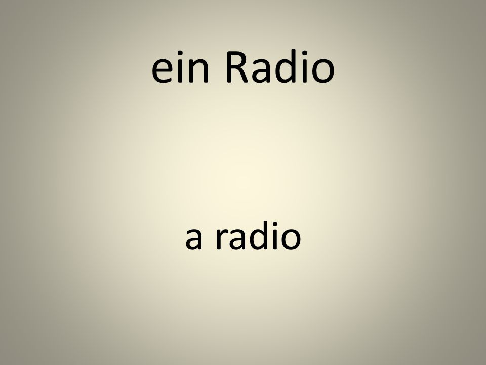 ein Radio a radio