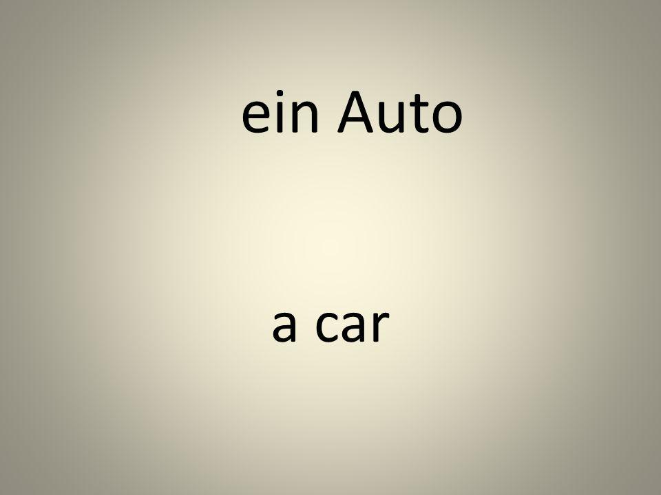 ein Auto a car