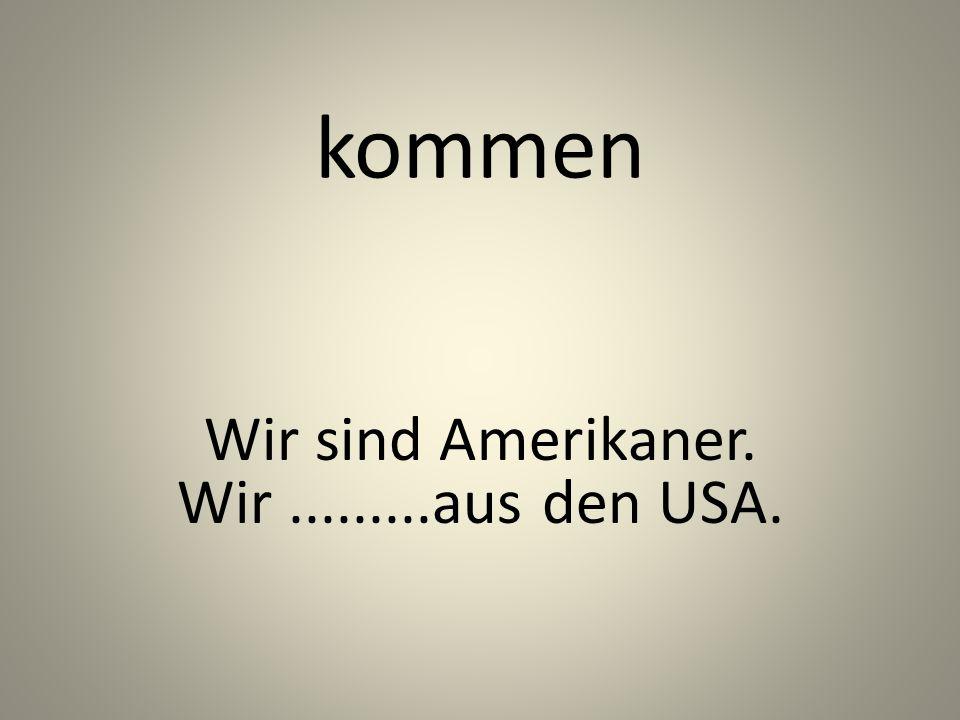 kommen Wir sind Amerikaner. Wir.........aus den USA.