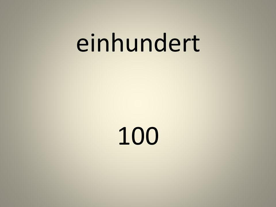 einhundert 100