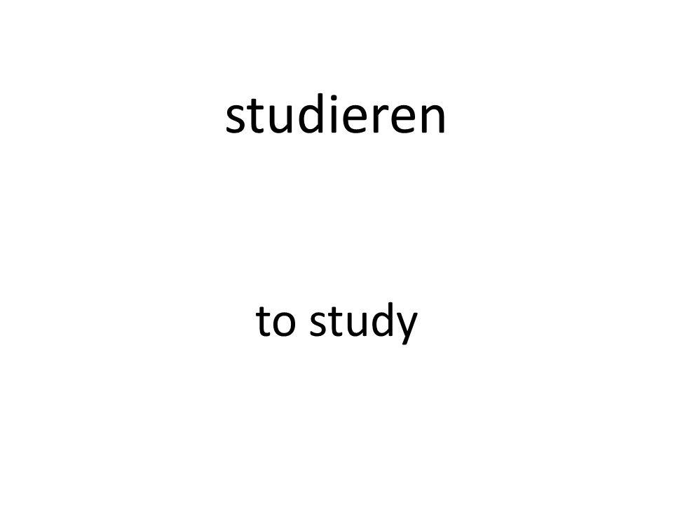 studieren to study