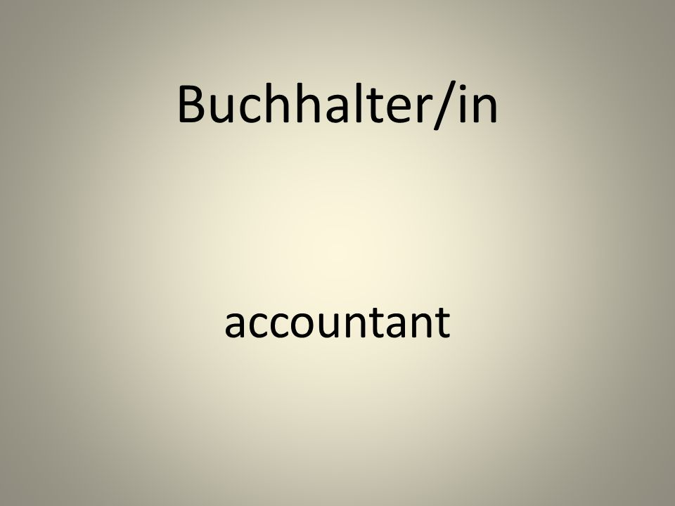 Buchhalter/in accountant