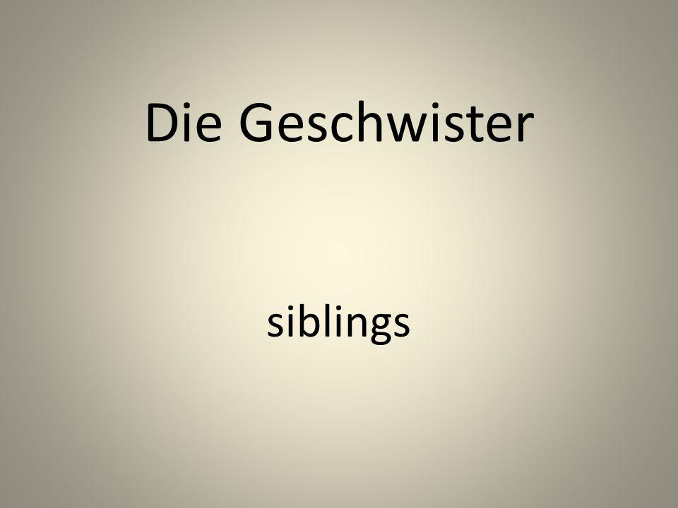 Die Geschwister siblings