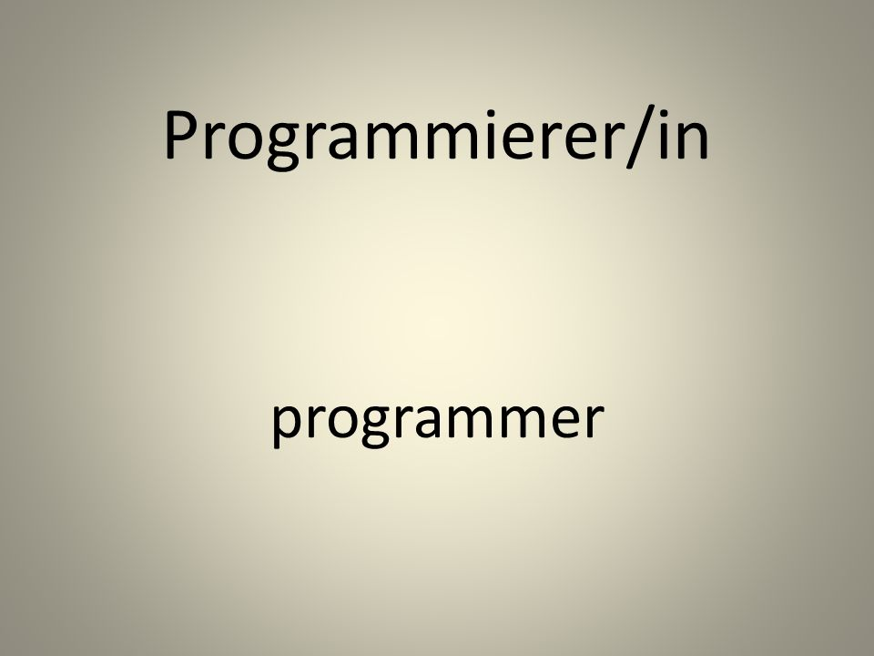 Programmierer/in programmer