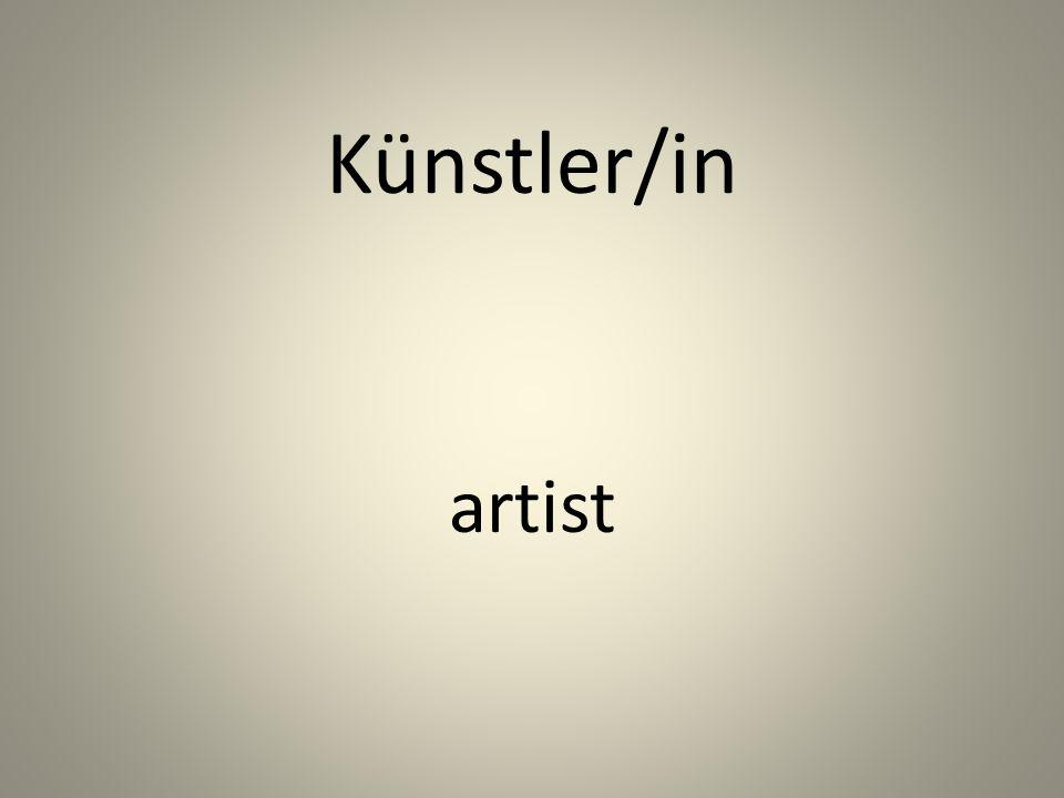 Künstler/in artist