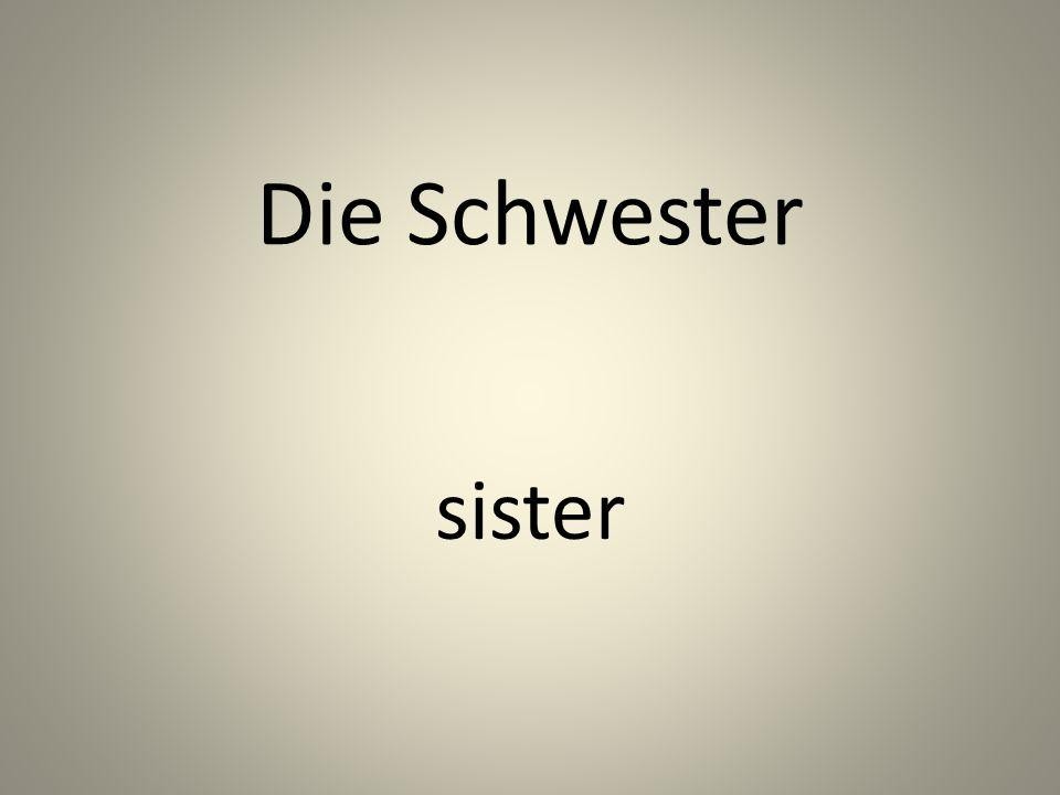 Die Schwester sister