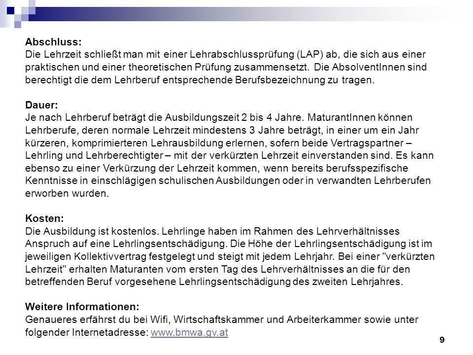 30 Fachhochschule Wirtschaft / Technik IT / Computer / Info / Medien Soziales / Pädagogik Pflege / Gesundheit / Sport Natur / Land / Forst / Holz Sprache / Kunst / Kultur …