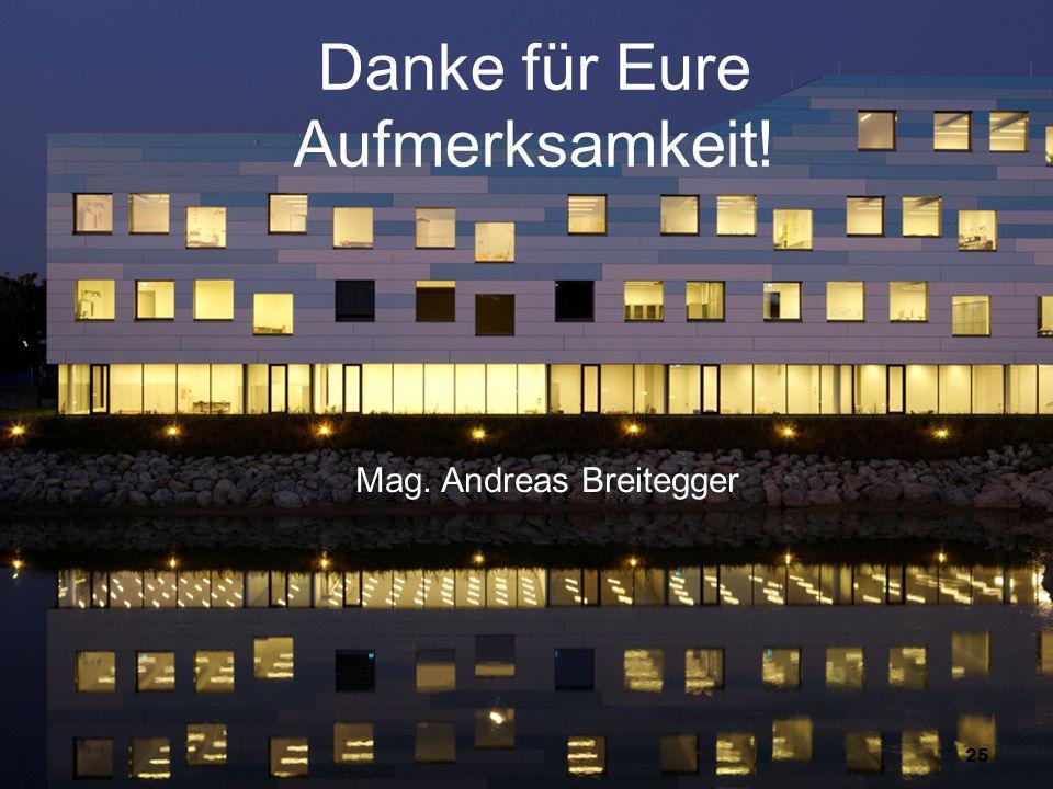 25 Danke für Eure Aufmerksamkeit! Mag. Andreas Breitegger