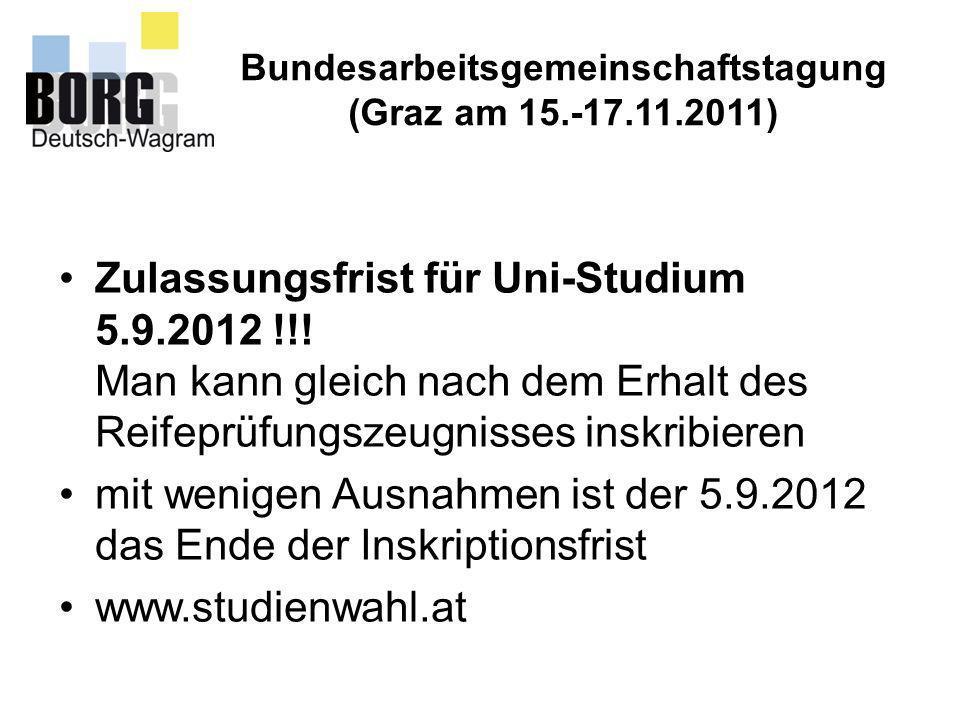 Bundesarbeitsgemeinschaftstagung Montanuniversität VertreterInnen kommen gern in ganz Österreich in Schulen, um über die Montanuni zu informieren.