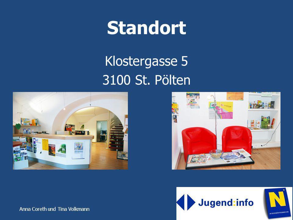 Anna Coreth und Tina Volkmann Standort Klostergasse 5 3100 St. Pölten