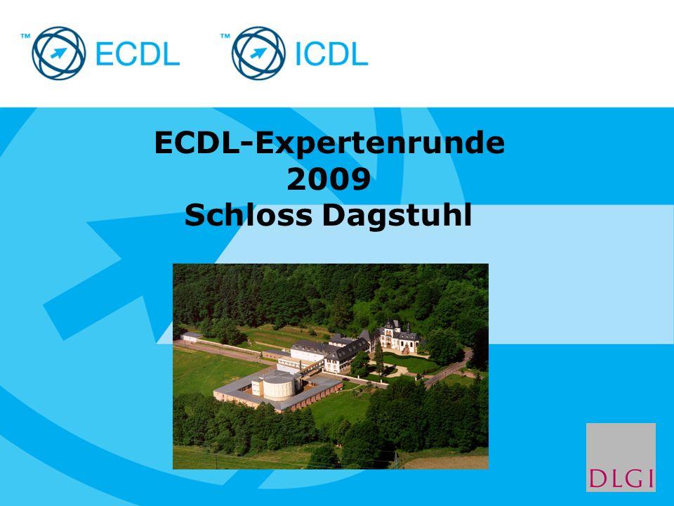 Placeholder for licensee logo ECDL-Expertenrunde 2009 Schloss Dagstuhl