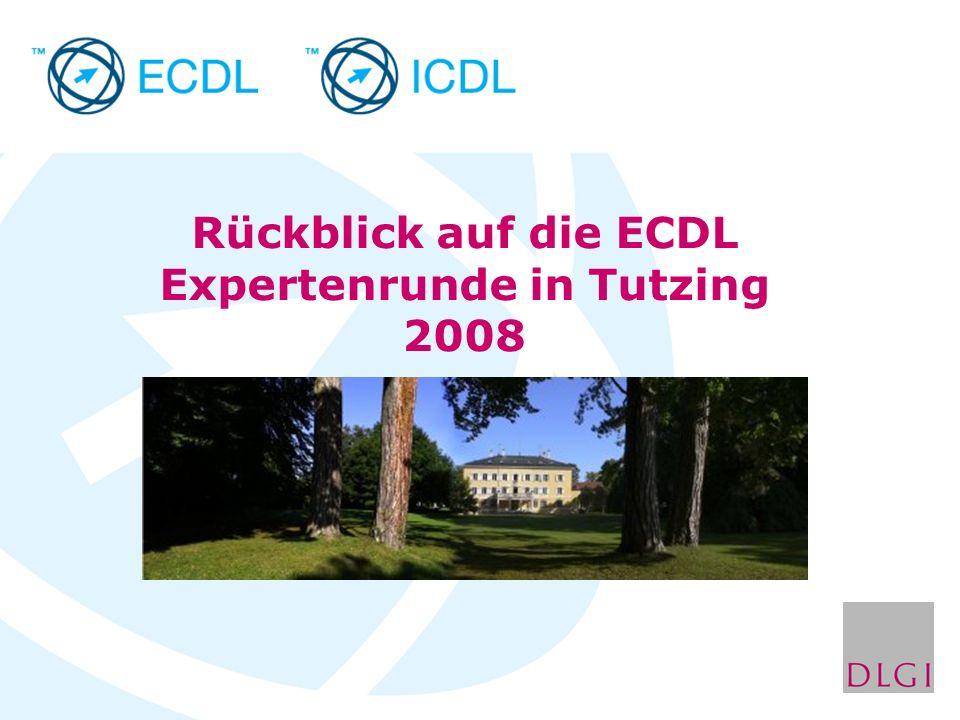Rückblick auf die ECDL Expertenrunde in Tutzing 2008