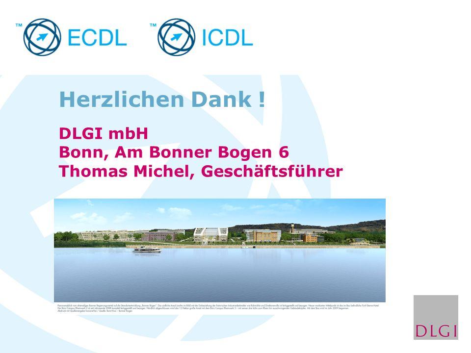 DLGI mbH Bonn, Am Bonner Bogen 6 Thomas Michel, Geschäftsführer Herzlichen Dank !