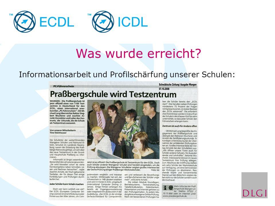 Neues zu ECDL und DLGI