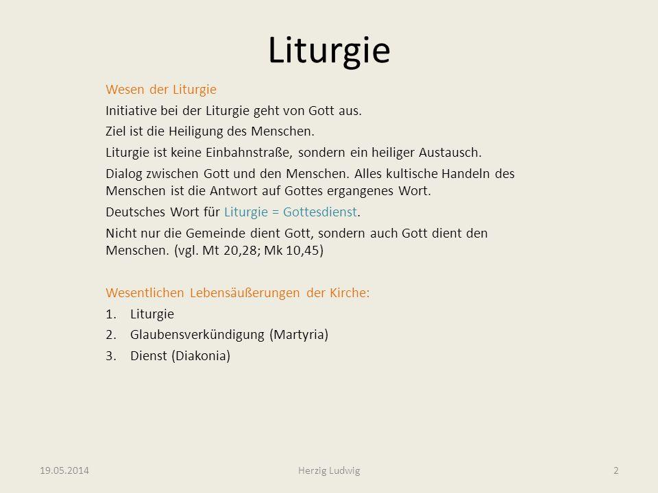 Liturgie Wesen der Liturgie Initiative bei der Liturgie geht von Gott aus. Ziel ist die Heiligung des Menschen. Liturgie ist keine Einbahnstraße, sond