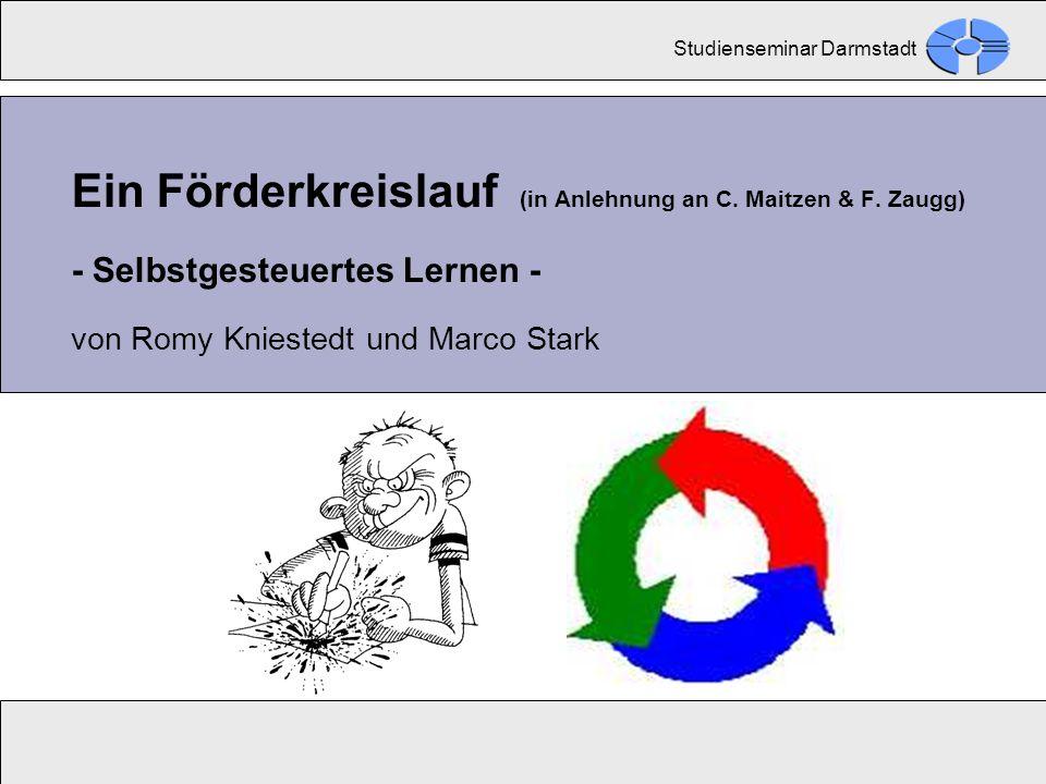 Förderkreislauf – Selbstgesteuertes Lernen - Romy Kniestedt und Marco Stark - Ein Förderkreislauf (in Anlehnung an C. Maitzen & F. Zaugg) - Selbstgest
