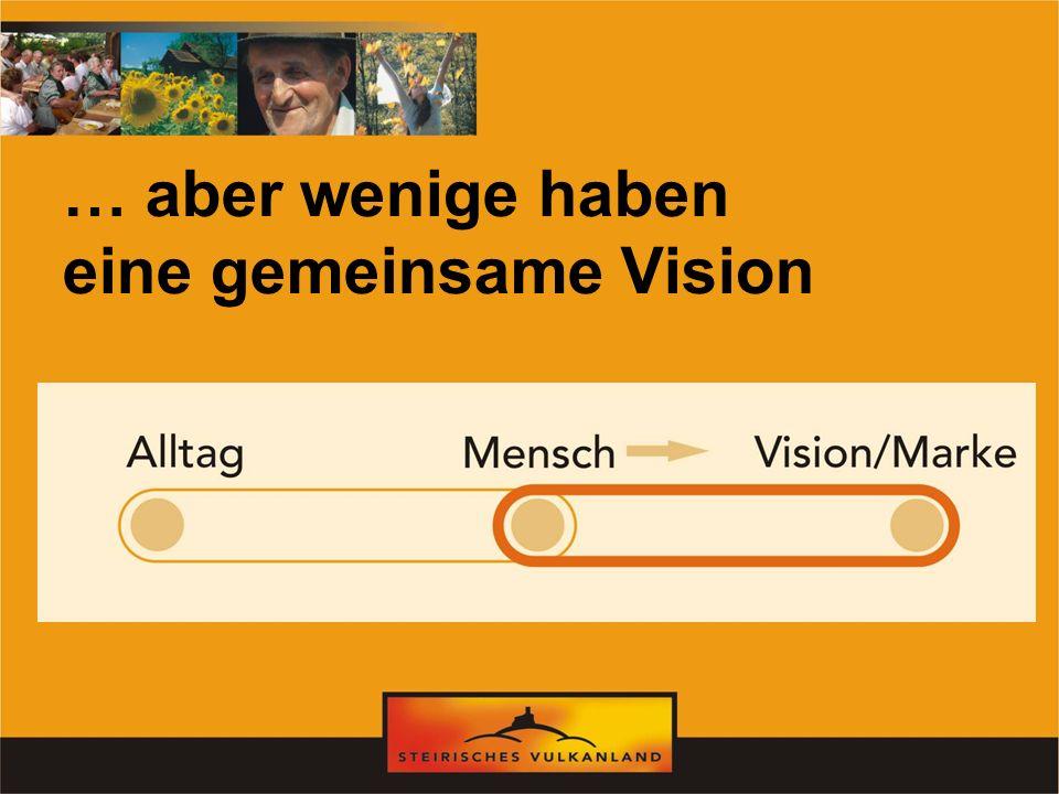 … aber wenige haben eine gemeinsame Vision