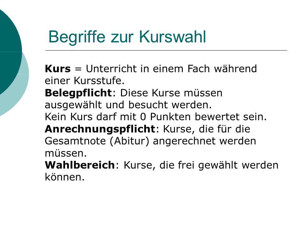 1.Deutsch 2. Mathematik 3. eine Fremdsprache 4. Naturwissenschaft oder zweite Fremdsprache 5.