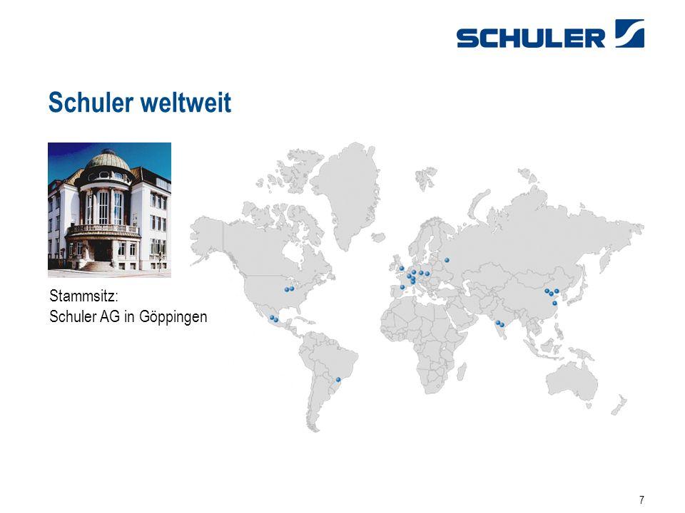 7 Schuler weltweit Stammsitz: Schuler AG in Göppingen
