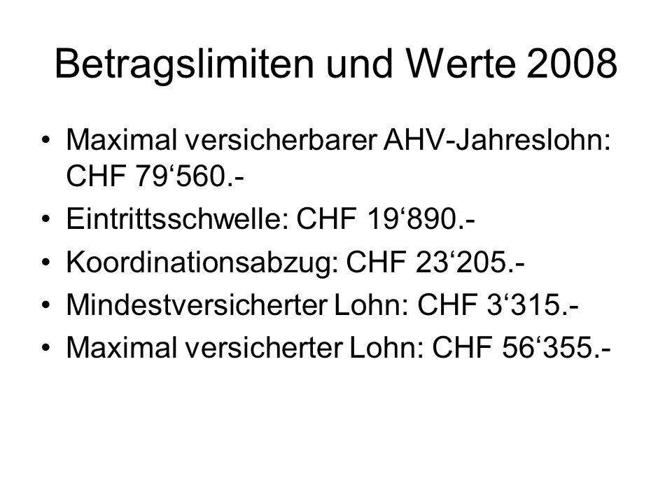 Berechnungsbeispiel 1 Annahme: AHV-Jahreslohn: CHF 60000.-./.
