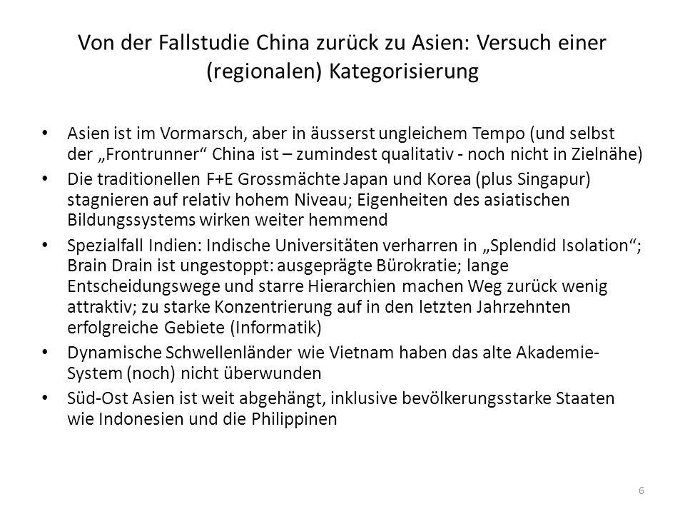 Fazit: was heisst die alles für den Forschungsstandort Schweiz .