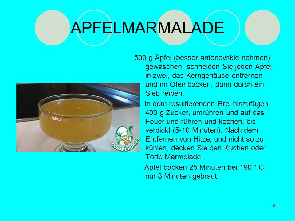 APFELMARMALADE 500 g Äpfel (besser antonovskie nehmen) gewaschen, schneiden Sie jeden Apfel in zwei, das Kerngehäuse entfernen und im Ofen backen, dan