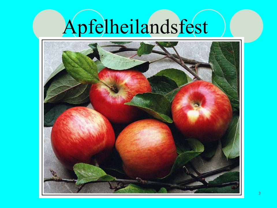 3 Apfelheilandsfest