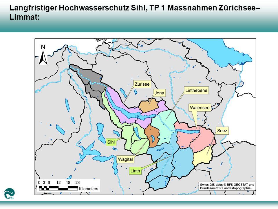 Langfristiger Hochwasserschutz Sihl, TP 1 Massnahmen Zürichsee– Limmat: