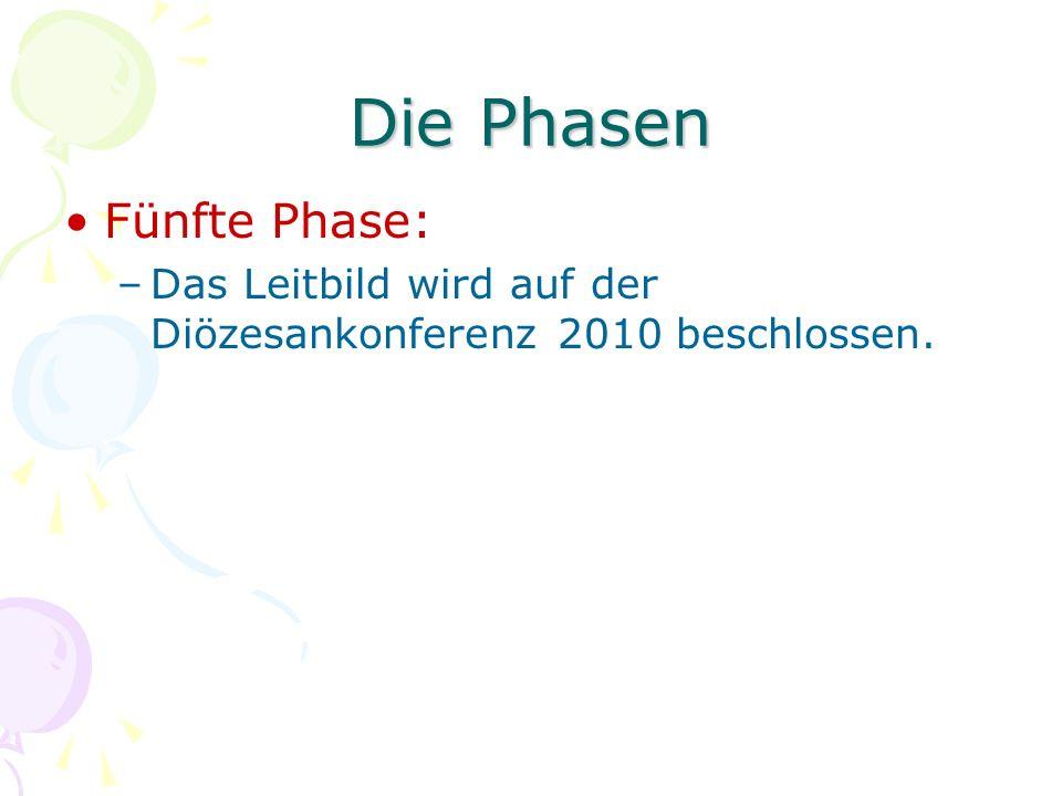 Die Phasen Fünfte Phase: –Das Leitbild wird auf der Diözesankonferenz 2010 beschlossen.