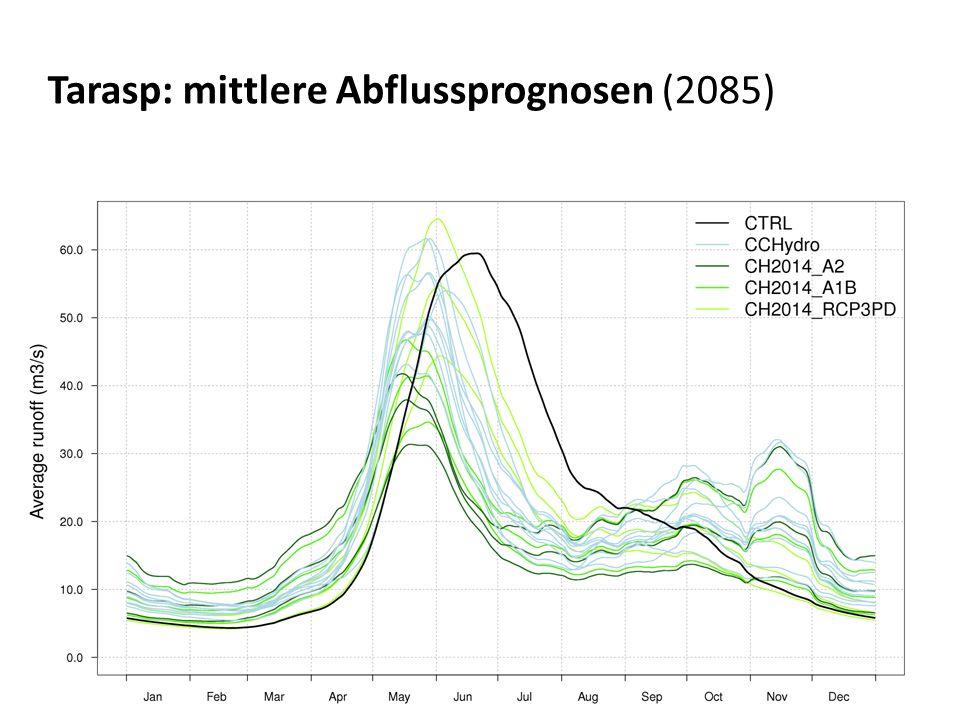 Tarasp: mittlere Abflussprognosen (2085)