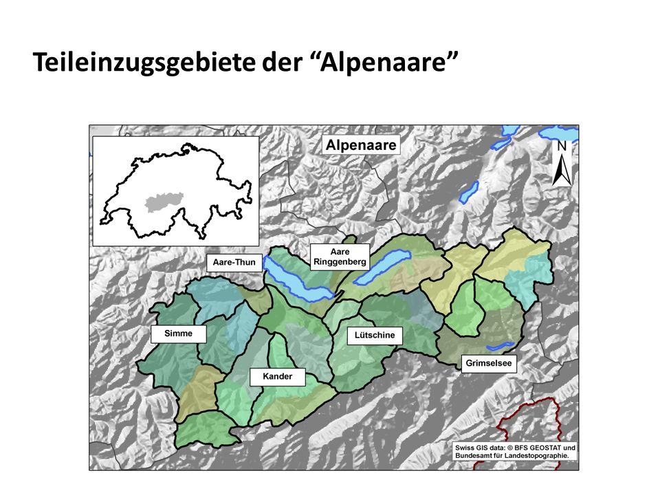 Teileinzugsgebiete der Alpenaare