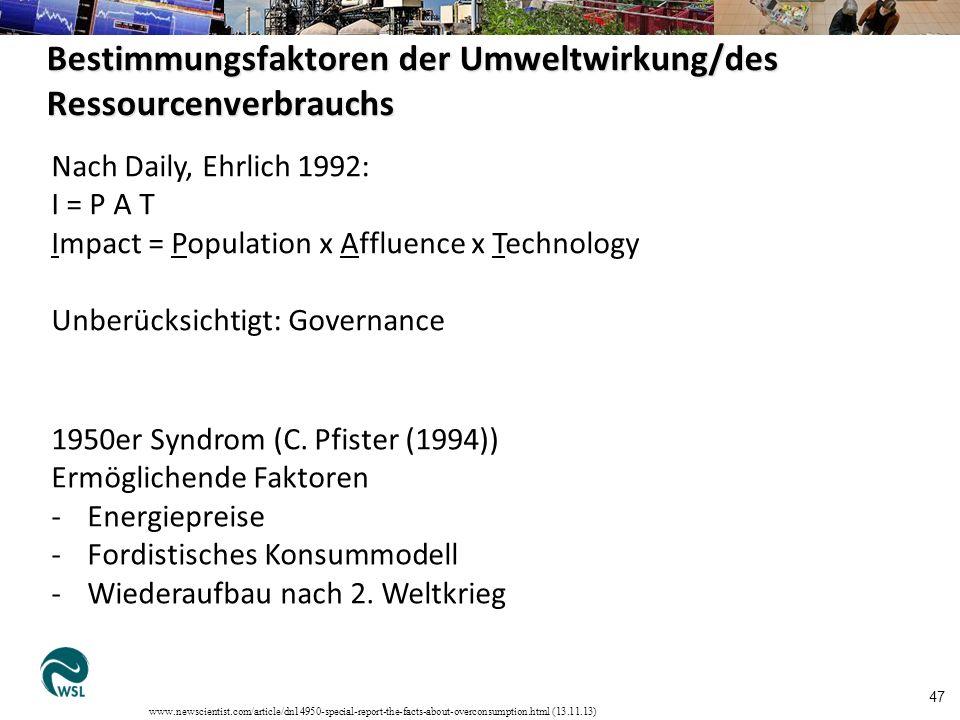 Kritik am BIP als Wohlstandsmesser 68 … v.a.