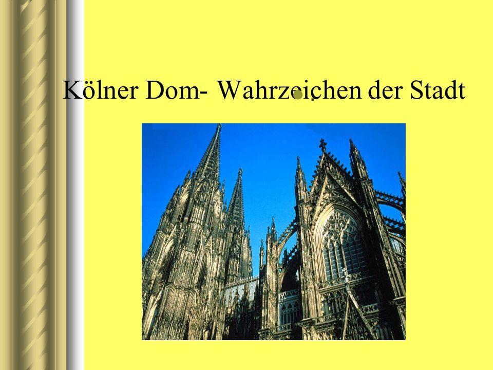 Kölner Dom- Wahrzeichen der Stadt.
